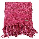 FIRETRAP PINK TWISTED YARN WOMENS SCARF