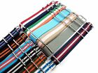 18mm Nylon Watch Strap Band Sports Military Replacement New Pattern multicolored
