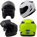 MT Flux Motorcycle Helmet Flip Front Motorbike Crash Lid Yellow White Black New