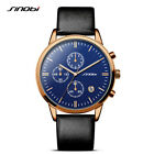 Mens Sport Watches For Luxury Brand Waterproof Leather Chronograph Wrist Watch