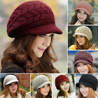 Womens Ladies Girl Winter Warm Knitted Crochet Slouch Baggy Beanie Hat Cap Beret