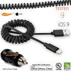 New Coiled Lightning Cable Apple MFi Official Certified For iPhone w/Car Charger