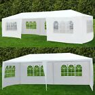10'x30' Party Wedding Tent Outdoor Canopy Heavy Duty white Gazebo Pavilion Cater