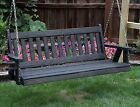 Amish Heavy Duty 800 Lb Mission 4 Ft Porch Garden Swing With Cupholders-usa