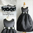 Adorable Black graduation recital wedding flower girl party dress all sizes