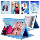 Frozen Cartoon Leather Kids Stand Case Cover For iPad 2 3 4 5 6 ​7 Air Mini Pro