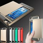 Luxury Slim Hybrid Credit Card Pocket Wallet Pouch Case PC Back Cover For iPhone