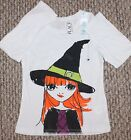 New! Girls Children's Place Halloween Shirt (Witch; White) - Size XSmall 4
