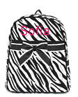 Personalized Quilted Zebra Black Kids Backpack Book Bag MONOGRAM Embroidery Name