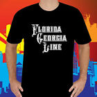 New FLORIDA GEORGIA LINE LOGO Country Music Men's Black T-Shirt Size S-3XL