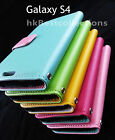 Stylish Wallet Flip PU Leather Cover Case for Samsung Galaxy S4 S IV i9500