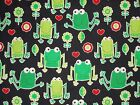 Frog Quilt Fabric Timeless Treasures Quilting Sewing Cotton Black FQ, BTHY, BTY