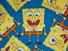 Sponge Bob Square Pants Quilting Fabric Sewing Blue 100% Cotton FQ,  BTHY,  BTY