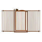 Richell Tall Easy Open One-Touch Wooden Pressure-Mount Pet Gate II - Wide