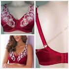 A68 EX High Street Under-Wired Non Padded Plus Size Lace Full Cup Red Bra UK P&P