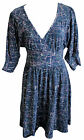 Blutsgeschwister Kleid Oh Couture Heart Dress Gr. XS L XL blau Print Wickel V66