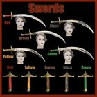 SWORD BELLY DANCE STAINLESS STEEL BLADE HANDLE BRASS WOOD ENGRAVEDGOLD