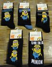 New - Minion Socks - Despicable Me Socks - Mens Socks - Size 6 - 11 - Men's