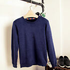Plain Men's Long Sleeve Pullover Sweater Jumper Casual Crew Neck Outwear Coat