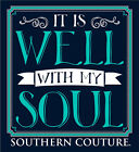 Southern Couture Womens Christian T-Shirt: Long Sleeve | It is Well with My Soul