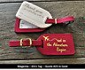 More images of 25 MAGENTA (Style i.d. 11)  WEDDING escort, leather Luggage Tags  $2.35 each