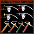 SWORD BELLY DANCE STAINLESS STEEL BLADE HANDLE BRASS WOOD