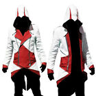 Stylish Zipper Cool Slim Women Men's Hoodie For Assassin's Creed Cosplay Costume