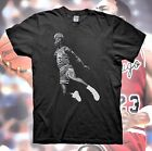 MICHAEL JORDAN T Shirt Retro Bred Black White Poster Cement Air Bulls 11 5 3 4 1