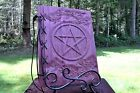 Lg Custom Wood & Leather Blank Journal, Diary, Book of Shadows - Pentagram