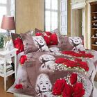4Pcs 3D HD Marilyn Monroe Oil Printed Duvet / Quilt Cover Bedding PillowCase Set