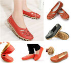 Women Flat Comfort Leather Loafers Shoes Ladies Mom Shoes 4 Colors 37-40 Size