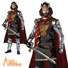 Adult King Arthur Costume Mens Medieval Warrior Fancy Dress Outfit New