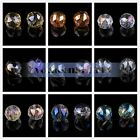 20mm Round Ball Faceted Crystal Glass Clear Spacer Loose Beads Findings