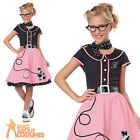 Child 1950s Sweetheart Costume Poodle Dress Black and Pink Fancy Dress Outfit