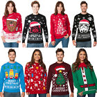 Christmas Xmas Unisex Womens Mens Novelty Knitted Jumper Sweater Retro Vintage