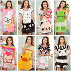 Korean Pajamas Girl Cotton Cartoon Sleepwear Short Sleeve Sleepshirt Nightdress