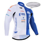 New Winter Fashion Men's Bike Team Cycling Jersey Bib Tights Sets Fleece Thermal