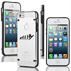 For iPhone SE 5s 6 6s 7 Plus Slim Clear TPU Hard Case Cover Evolution Snowboard