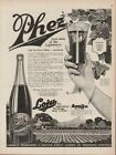 1918 Phez Loganberry Juice Pheasant Northwest Co Salem OR Kitchen Wall Decor Ad