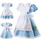 New Girls Maid Lolita Alice in Wonderland Costume Cosplay Fancy Dress Outfits
