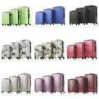 3PCS Luggage Set PC + ABS Suitcase Travel Carry-ons Trolley Spinner Wheels Z5W6