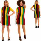 New Womens Xmas Christmas Party Tunic Rasta Dress Sweater Retro Novelty Knitted