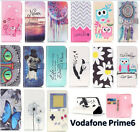 Flip Magnetic Card Slot Wallet PU Leather Case Stand Cover For Vodafone Prime 6