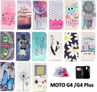 Flip Magnetic Card Wallet PU Leather Case Stand Cover For Motorola Moto G4/Plus