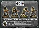 West Wind Secrets Reich USA 28mm Armored Infantry w Gas Mask Heads #2 Pack MINT