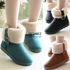 Women Winter Flat Snow Ankle Boots Warm Faux Fur Suede Shoes Short Boots TXSU