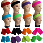 NEON HEADBAND & OR WRISTBANDS SWEATBANDS 1980S 80S FANCY DRESS COSTUME HEN PARTY
