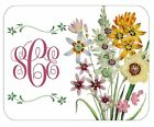 CUSTOM GLASS CUTTING BOARD PERSONALIZED-2 SIZES-FLORAL BOUQUET-ADD ANY TEXT