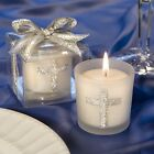 Silver Cross Themed Candle Favors - Churches Ministries / FC-5406