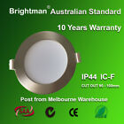 10 x 10W LED DOWNLIGHT KIT IC-F IP44 DIMMABLE 92MM CUTOUT NATURE/WARM SILVER